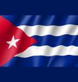 flag cuba realistic icon vector image vector image