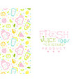 fresh juice original product banner template vector image vector image