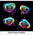 Glossy Speech Bubbles Design vector image