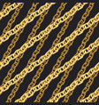 golden zigzag chain seamless pattern vector image
