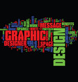 graphic design text background word cloud concept vector image vector image