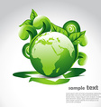 green earth with florals vector image