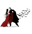 halloween dance party romantic vampire couple vector image vector image