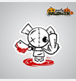 halloween evil bearvoodoo doll pop art comic vector image vector image