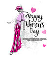 happy women day fashion template background vector image