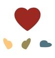 heart icon set Isometric effect vector image