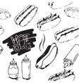Hotdog Seamless Pattern vector image