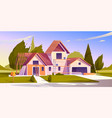 house construction site vector image vector image