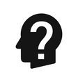 human head profile with question mark perplexity vector image vector image