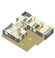 Isometric house inside vector image vector image