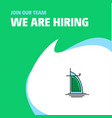join our team busienss company dubai hotel we are vector image vector image
