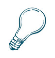 light bulb icon blue isolated on white vector image