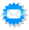 Mail blue icon vector image vector image