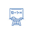 maths line icon concept maths flat symbol vector image vector image
