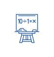maths line icon concept maths flat symbol vector image