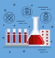 medical analysis design vector image