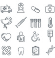 Medical Icons thin line icons set vector image vector image