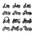 Motorcycle Icons set vector image vector image
