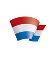 netherlands flag on a white vector image vector image