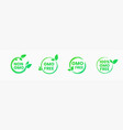 non gmo and gmo free badges in bright green color vector image