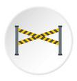 police line icon circle vector image vector image