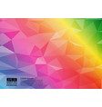 rainbow color geometric triangular gradient vector image
