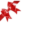 Red bow isolated on white EPS 10 vector image