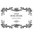 rose vintage frame vector image
