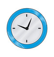 round clock time hour business object icon vector image vector image