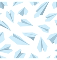 seamless pattern with Origami plane vector image vector image