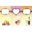 Set of celebration banners vector image vector image