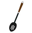 Slotted spoon vector image vector image