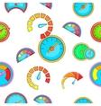 Speedometer pattern cartoon style vector image vector image
