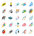 spending on the internet icons set vector image vector image