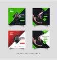 sport social media feed post promotion design vector image vector image