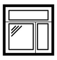 square window frame icon simple black style vector image vector image