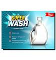 super wash laundry liquid advertise banner