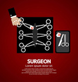 Surgeons Incision Scissors vector image vector image