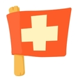 Switzerland flag icon cartoon style vector image vector image