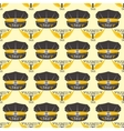 Taxi badge seamless pattern vector image vector image