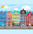 traditional european town old city street vector image