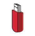 usb memory isolated icon vector image vector image