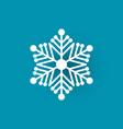winter symbol xmas flake new year and christmas vector image vector image