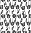 Abstract seamless retro pattern with silhouettes vector image