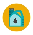 Engine oil flat icon vector image