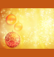 golden christmas design with red and golden vector image