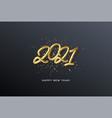 2021 realistic golden metallic inscription vector image
