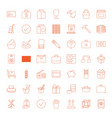 49 box icons vector image vector image