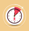 8 eight minutes time symbol vector image vector image