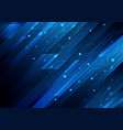abstract blue diagonal stripes and circuit on vector image